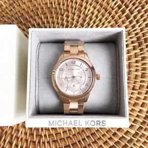 Michael Kors Rose Gold Watch Brand New Working